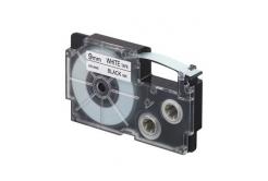 Casio XR-9WE1, 9mm x 8m, text negru / fundal alb, banda originala