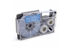 Banda compatibila Casio XR-9ABU 9mm x 8m text alb / fundal albastru