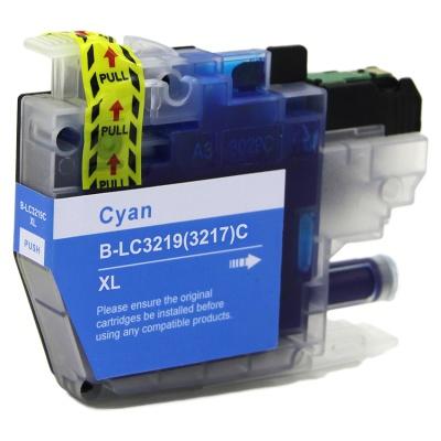 Brother LC-3217XL / LC-3219XL azuriu (cyan) cartus compatibil
