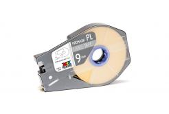 Partex PROMARK-PL090CN4, galben banda adeziva, 9mm, 30m