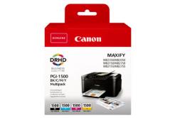 Canon cartus original PGI-1500 BK/C/M/Y Multipack, CMYK, 400/3*300 pagini, 9218B005, Canon MAXIFY MB2050,MB2150,MB2155,MB2350,MB2750,M