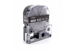 Epson LC-SD6KW, 6mm x 8m, text alb / fundal negru, banda compatibila