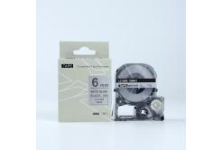 Epson LK-SM6X, 6mm x 9m, text negru / mat fundal argintiu, banda compatibila