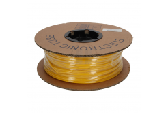 Tub de marcaj termocontractabil oval din PVC, profil PO, BF-30, 3 mm, 200 m, galben