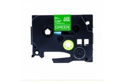 Banda compatibila Brother TZ-755 / TZe-755, 24mm x 8m, text alb / fundal verde