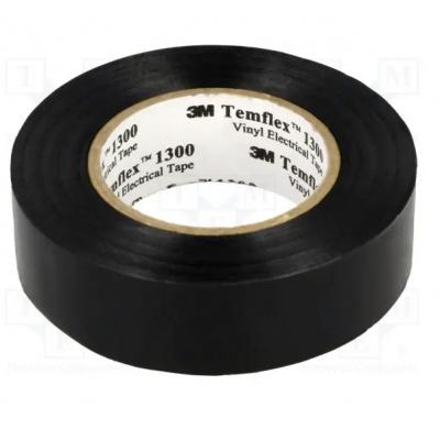 3M Temflex 1300 benzi electroizolante, 19 mm x 20 m, negru