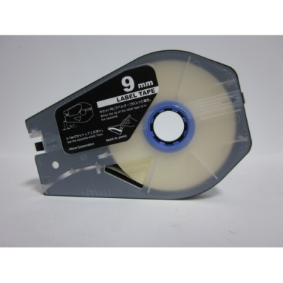 Bandă adezivă compatibilă pentru Canon M-1 Std/M-1 Pro / Partex, 9mm x 30m, kazeta, alb