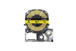 Epson LK-SC6YW, 6mm x 9m, text negru / fundal galben, banda compatibila