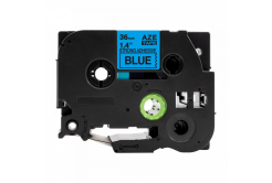 Banda compatibila Brother TZ-S561 / TZe-S561, 36mm x 8m, extr.adh. text negru / fundal albastru