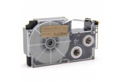 Banda compatibila Casio XR-12GD1 12mm x 8m text negru / fundal auriu