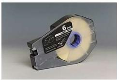 Bandă adezivă compatibilă pentru Canon M-1 Std/M-1 Pro / Partex, 6mm x 30m, kazeta, alb