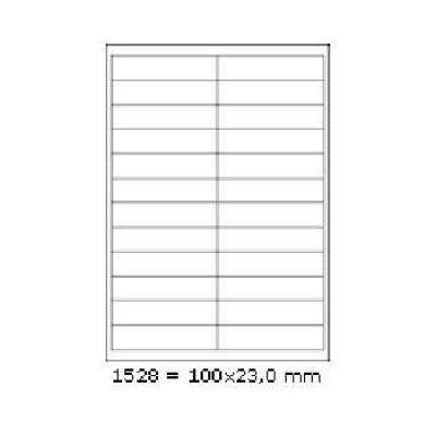 Etichete autoadezive 178 x 127 mm, 2 de etichete, A4, 100 coli