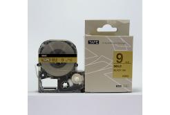 Epson LC-SM9ZW, 9mm x 8m, text negru / fundal auriu, banda compatibila