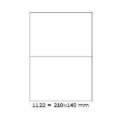 Etichete autoadezive 210 x 148 mm, 2 de etichete, A4, 100 coli