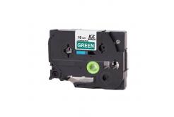 Banda compatibila Brother TZ-745 / TZe-745, 18mm x 8m, text alb / fundal verde