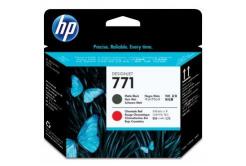 HP 771 CE017A, mat negru / chromatic rosu (matte black / chromatic red) cap de imprimare original