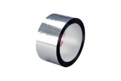 3M 850 S Bandă adeziva din poliester, argintiu, 25 mm x 66 m