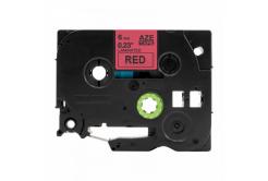 Banda compatibila Brother TZ-S411 / TZe-S411, 6mm x 8m, extr.adh. text negru / fundal rosu