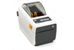 Zebra ZD410 ZD41H22-D0EW02EZ imprimante de etichetat, 8 dots/mm (203 dpi), MS, RTC, EPLII, ZPLII, USB, BT (BLE, 4.1), Wi-Fi, alb