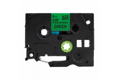 Banda compatibila Brother TZ-S721 / TZe-S721, 9mm x 8m, extr.adh. text negru / fundal verde