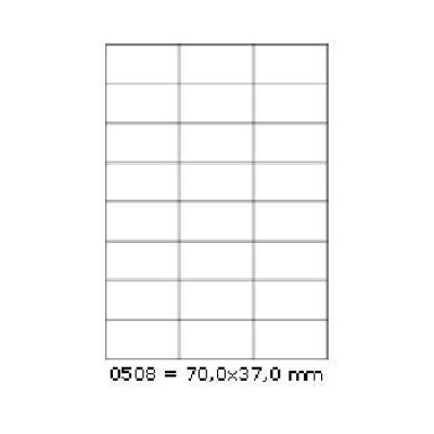 Etichete autoadezive 70 x 37 mm, 24 de etichete, A4, 100 coli