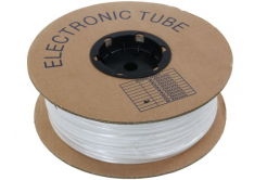Marcaj tub termocontractabil din PVC rotund cu grosimea BA-20, 2 mm, 200 m, alb