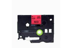 Brother TZe-V421, 9mm x 5,5m, text negru / fundal rosu, vinyl, banda compatibila