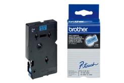 Brother TC-591, 9mm x 7,7m, text negru / fundal albastru, banda original