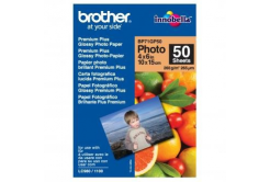 "Brother BP71GP50 Premium Glossy Photo Paper, hartie foto, lucios, alb, 10x15cm, 4x6"", 260 g/m2, 50 buc"