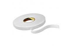 3M 9515W bandă adezivă dublă faţă-verso din spumă , alb, 12 mm x 33 m