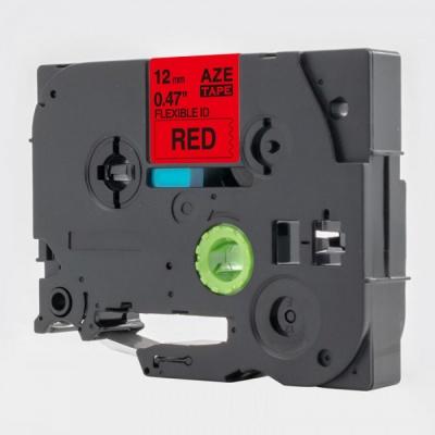 Banda compatibila Brother TZ-S431 / TZe-S431, 12mm x 8m, extr.adh. text negru / fundal rosu