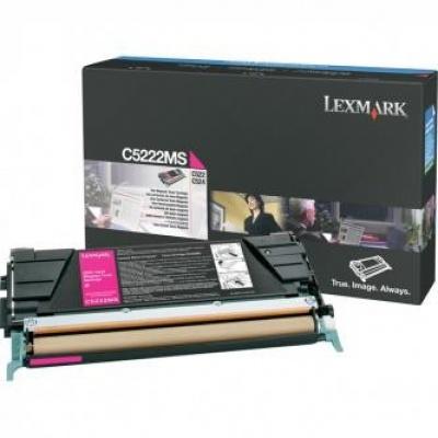 Lexmark C5222MS purpuriu (magenta) toner original