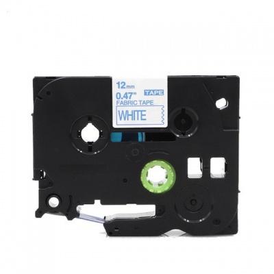 Bandă de călcat compatibilă Brother TZe-FA3, 12mm x 3m, albastru text / fundal alb