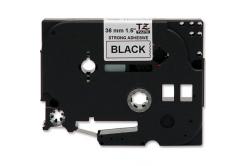 Banda compatibila Brother TZ-S261 / TZe-S261, 36mm x 8m, puternic adeziva, text negru / fundal alb