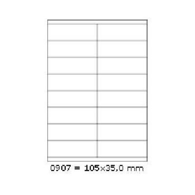 Etichete autoadezive 105 x 35 mm, 16 de etichete, A4, 100 coli