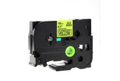Banda compatibila Brother TZ-C41 / TZe-C41, semnal 18mm x 8m, text negru / fundal galben