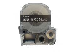 Epson LC-SD24KW, 24mm x 8m, text alb / fundal negru, banda compatibila