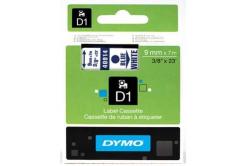 Dymo D1 40914, S0720700, 9mm x 7m, text albastru / fundal alb, banda original