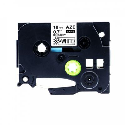 Banda compatibila Brother TZ-SE4 / TZe-SE4, 18mm x 8m securitate, text negru / fundal alb