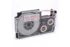 Banda compatibila Casio XR-6WER 6mm x 8m text rosu / fundal alb