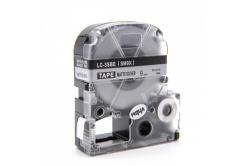 Epson LC-SM9X, 9mm x 8m, text negru / mat fundal argintiu, banda compatibila