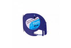 Banda compatibila Dymo 59426, S0721600 / S0721650, 12mm x 4m, text negru / fundal albastru