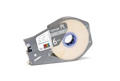 Partex PROMARK-PL060CN9, alb banda adeziva, 6mm, 30m