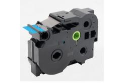 Banda compatibila Brother TZ-FX561 / TZe-FX561, 36mm x 8m, flexi, text negru / fundal albastru