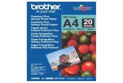 Brother BP71GA4 Glossy Photo Paper, hartie foto, lucios, alb, A4, 260 g/m2, 20 buc