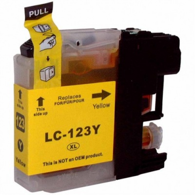 Brother LC-123 galben (yellow) cartus compatibil