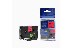 Banda compatibila Brother TZ-441 / TZe-441, 18mm x 8m, text negru / fundal rosu
