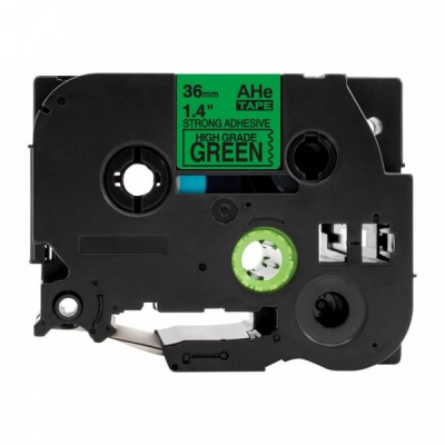 Banda compatibila Brother TZ-S761 / TZe-S761, 36mm x 8m, extr.adh. text negru / fundal verde
