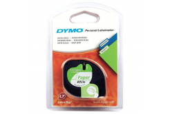 Dymo LetraTag 59421, S0721500, 12mm x 4m text negru / fundal alb, banda original