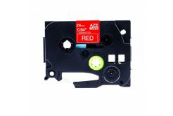 Banda compatibila Brother TZ-455 / TZe-455, 24mm x 8m, text alb / fundal rosu
